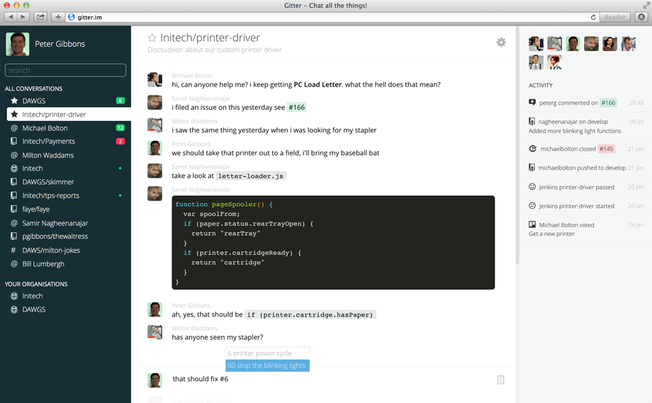 Gitter Screenshot